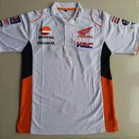kaos kerah motogp repsol honda team polo shirt bordir marquez 93 mm93