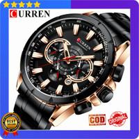 Jam Tangan Pria Import CURREN 8363 Original Garansi Resmi 1 Tahun - Hitam