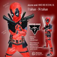 kostum anak deadpool baju dead pool marvel superhero costume ultah