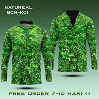 baju camo kaos kamuflase natural daun