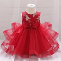DRESS TUTU ULANG TAHUN ANAK BAYI TUTU DRESS ANAK BABY MERAH PINK - Merah, 70