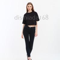 Baju kaos wanita / Tshirt wanita crop top korea J33