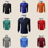 Kaos Polo Shirt / Wangki Polos (Lengan Panjang)