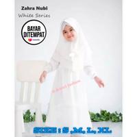 Baju Muslim Gamis Anak Putih Polos Manasik Gamis Anak Terbaru 2021 - Putih, S