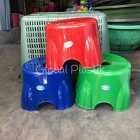 KECIL - Bangku Kursi Jongkok Dingklik Plastik Bulat