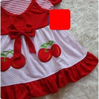SDR-SF06 Setelan Dress Anak 1-2 Tahun Baju Bayi Perempuan Cantik ZKF
