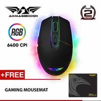Mouse Gaming Original Armageddon Raven-III (6400 CPI)RGB free mousemat