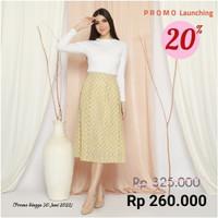 Savy Pleated Skirt - Cream