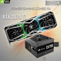POWER COMBO 54 GAINWARD RTX 3070 TI PHOENIX + CORSAIR CV750 PSU