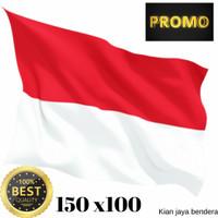 MURAH !! bendera merah putih ukuran 150 x 100 bahan peles premium