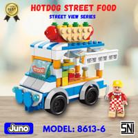 Mainan Brick Hotdog Street Food Compatible LEGO   Juno 8613-6