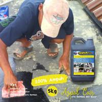 Waterproofing Aspal Cair 5 KG Anti Rembes Atap Dak Lantai Kolam Ikan