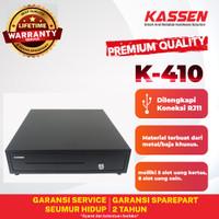 KASSEN K410 LACI KASIR/CASH DRAWER/LACI UANG MK410 RJ11 5 BILL 8 COIN