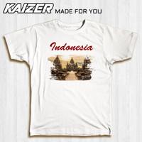 KAIZER RH-1551 Kaos Candi Prambanan Painting Wonderful Indonesia - Putih, S