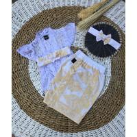 Setelan baju Adat Bali anak perempuan / cewek-Kebaya kamen 1-5 tahun