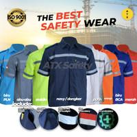 Wearpack Safety Lengan Pendek Baju Seragam Kerja Proyek Safety K3