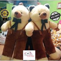 Boneka teddy bear jojon beruang besar lucu murah jumbo over all-93cm - Cokelat