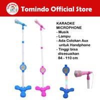 Tomindo Mainan Musik Microphone Mik Mic Mikrofon Anak Laki Perempuan