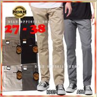 Celana Chino Panjang Pria Premium Hitam Abu Krem Big Size Jumbo Kasual