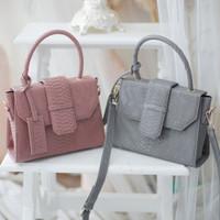 Patris Collection Zania Top Sling Bag Wanita - Pink Floral
