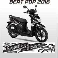 STRIPING BEAT POP VARIASI STIKER MOTOR HONDA BEAT POP ABU