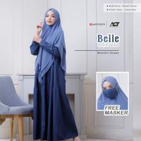 AW Gamis Cantik Belle Denim Dress Original by Yasmeera - L