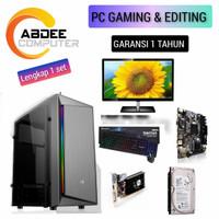 CPU RAKITAN PC CORE I5 RAM 8 GB HDD 500 GB EDITING