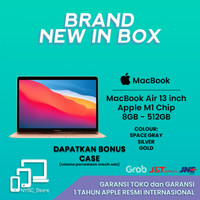 Apple Macbook Air 2020 13 Inch M1 Chip 8GB SSD 512GB BNIB