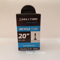 Ban Dalam 20 x 1 3/8 Presta FV 51.5 mm Deli Tire 20+ ETRTO 37-451