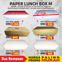 PAPER LUNCH BOX M