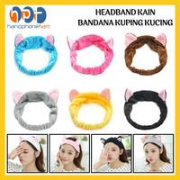 Bandana Bando Motif Kuping Kucing Lucu Headband Fashion Wanita Korea