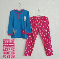 Setelan Kaos ANNE CLAIRE Lengan Panjang Celana Panjang (ACPP)