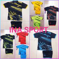 baju olahraga setelan anak voli futsal bafminton MIZUNO motif kumbang