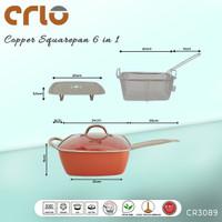 CRIO Copper Square Pan 6in1