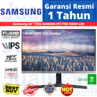 "Monitor LED Samsung S24R350 24"" IPS 75hz HDMI VGA FreeSync"