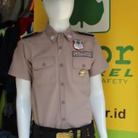 Baju seragam satpam -terbaru PDH Bahan GAIA Neo Premium (Atasan)