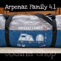 Quechua Arpenaz Family 4.1 Tenda Camping Kemah Keluarga Original