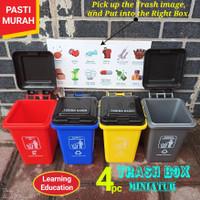 MAINAN EDUKASI 4 PCS TRASH BOX - MAINAN ANAK TEMPAT KOTAK BAK SAMPAH