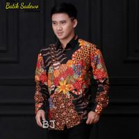 Kemeja Batik Pria Lengan Panjang Batik Sadewo Batik Tulis Berfuring J1