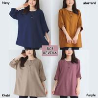 Blouse Jumbo Wanita BC4 Baju Atasan Bigsize Lengan Panjang