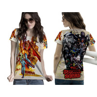 Kaos Baju Tshirt Wanita The Suicide Squad Movie 2021 harley Quinn 02 - Lengan Pendek, S