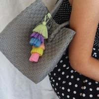 hijau melon tassel aksesoris tas