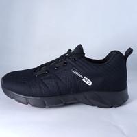 Sepatu Fullblack Adidas Sepatu sneakers pria sprot/sekolah sepatu pria - Hitam, 36