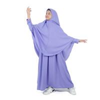 Bajuyuli - Baju Muslim Anak Perempuan Gamis Syar'i Polos Putih WSLI01 - S