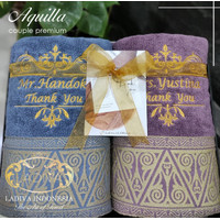 Hampers Gift Box Set Handuk Aquilla Bordir + Exclusive Box ( Premium )