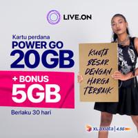 Kartu Perdana Live.On XL Power Go 20GB + 5GB Bonus (30 hari)