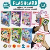 Kartu Edukasi Flash Card Anak Huruf ABC Hijaiyah Membaca Angka