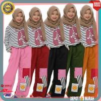 Setelan Baju Muslim Kulot anak Kids Wanita Cewek Perempuan 7 8 9 Tahun
