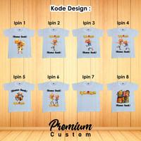 Kaos Anak Dan Dewasa FREE Custom Nama Cotton Comded 24s Upin Ipin - 3