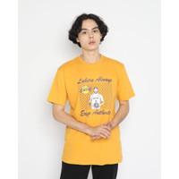 Kaos Pria Erigo T-Shirt Always La Cotton Combed Mustard